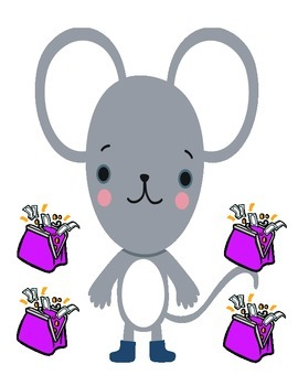 Mouse pretty purple purse counting number sense ESL COMMON CORE COUNT THE ROOM