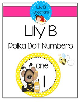 Lily B Numbers - Yellow Polka Dots
