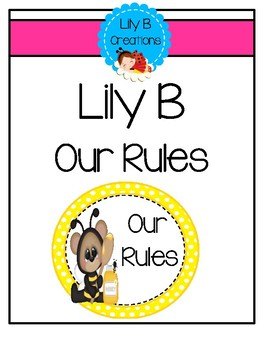 """Lily B """"Our Rules"""" - Yellow Polka Dots"""
