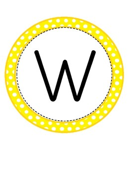 Lily B Welcome Banner -Yellow Polka Dots