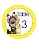 Lily B Table Labels - Yellow Polka Dots