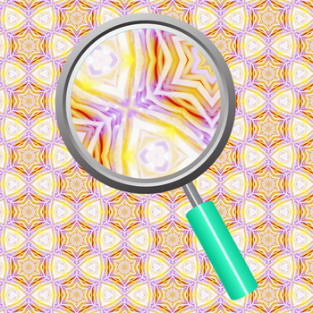 Lily Daydreaming - Kalidoscope Digital Paper / Backgrounds in Purple and Yellow