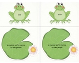 Lily Pad Language: A Music Vocabulary Center