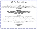 Lily Pad Number Match