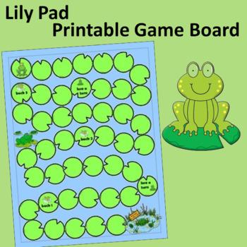 Lily Pad Printable Game Board