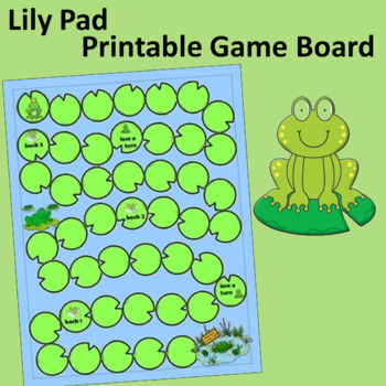 Lily Pad Printable Game Board