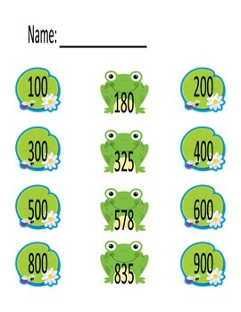 Lily Pad: Rounding by tens and hundreds