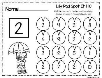 Lily Pad Spot It 1-10