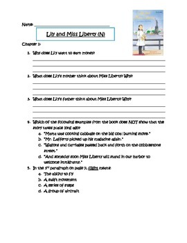 Lily and Miss Liberty Comprehension Questions