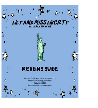 Lily and Miss Liberty Reading Guide