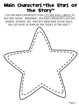 Lily and Miss Liberty Story Elements Packet