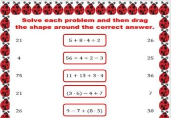 Lily the Lost Ladybug Order of Operations Digital Breakout
