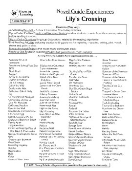 Lily's Crossing Literature Guide