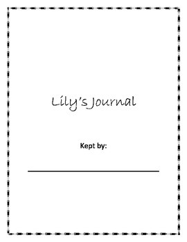 Lily's Crossing Journal