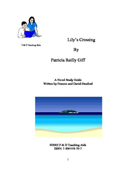 Lily's Crossing Novel Study Guide