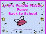 Lily's Purple Plastic Purse Back to School Freebee