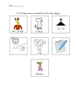 Lilly's Purple Plastic Purse Story Map with Pictures
