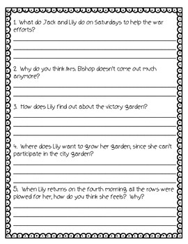 Lily's Victory Garden Guided Reading Unit or Activity Pack