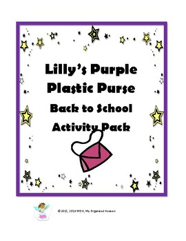 Lily's Purple Plastic Purse Back to School Activity Pack