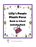 Lily's Purple Plastic Purse Work Pages