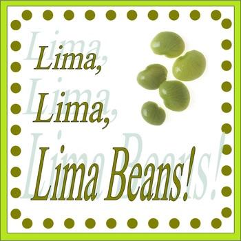 Lima Bean Activity Sheets