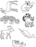 Alphabet Animal Clip Art I-O