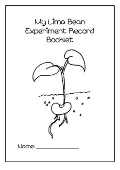 Lima Bean experiment booklet