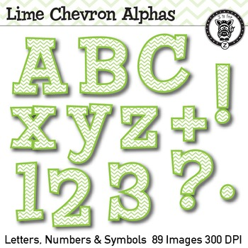 Lime Chevron Alpha Clip Art 89 Images By Z Is For Zebra Tpt