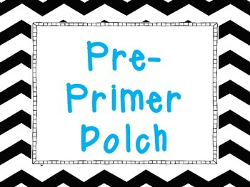 Lime Chevron Word Wall cards: Pre Primer-3rd Dolch word list