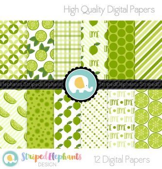 Lime Citrus Digital Papers