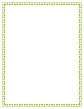 Lime Diamond Border Set