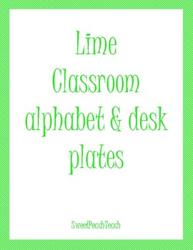 Lime Green Alphabet Letters & Nameplates