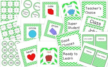 Lime Green (Basic Font) Classroom Decor
