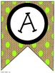 Lime Green Burlap Classroom Pennants and Bunting (Letters, Numbers, Punctuation)