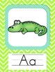 Lime Green Chevron Alphabet Line & Extras!