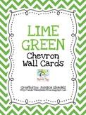 Lime Green Chevron Alphabet Wall Cards