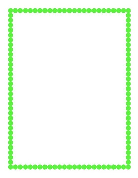 Lime Green Border Clipart