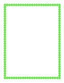 Lime Green Border Clipart