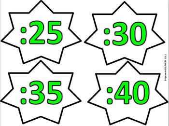 Lime Green Clock Numbers