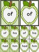 Lime Green Dot Apple Dolch First Grade Sight Word Flashcards and Posters