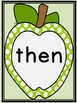 Lime Green Dot Apple Dolch First Grade Sight Word Flashcar