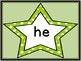 Lime Green Dot Star  Dolch Primer Sight Word Flashcards an