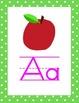 Lime Green Polka Dot Alphabet Line