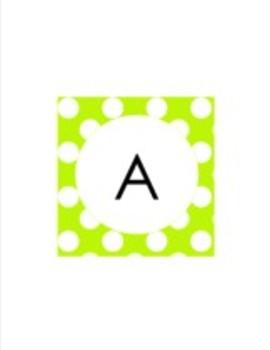 Lime Green Polka Dot Collection Classroom Decor