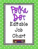 Lime Green Polka Dot Editable Job Chart