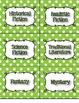 Lime Green Polka Dot Genre and AR Classroom Library Kit - Now Editable