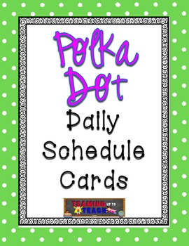 Lime Green Polka Dot Schedule Cards