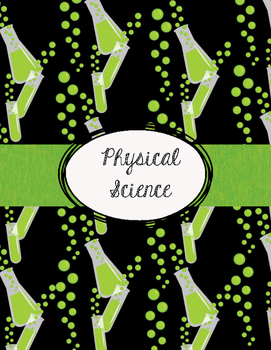 Lime Green and Black Science Teacher Binder