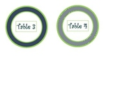 Lime Green and Navy Table Tags