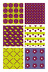 Lime Green and Purple Flower Digital Backgrounds Scrapbook Paper